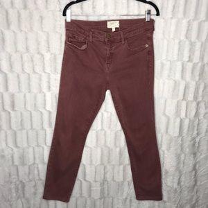Current Elliot Burgundy Maroon Skinny Jeans